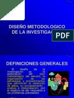 DISEÑO METODOLOGICO DE LA INVESTIGACION