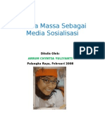 MEDIA MASSA SEBAGAI MEDIA SOSIALISASI