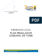 Ordenanza Local Del Plan Regulador Tome