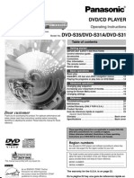 Panasonic DVD-S35 OM