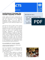 Fast Facts - Institutional Development for Gender