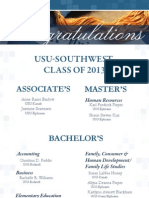 USU - Southwest  Class of 2013