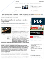 Proteção de dados diz que fisco cometeu ilegalidades - Expresso.pt