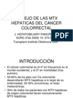 Manejo de Las Mtx Hepaticas Del Cancer Colorrectal