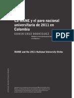 La MANE y el paro nacional universitario de 2011 Edwin Cruz Rodríguez