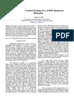 Sliding Mode Control Strategy for a 6 DOF Quadrotor Helicopter