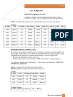 Guía de Ejercicios Normalizacion