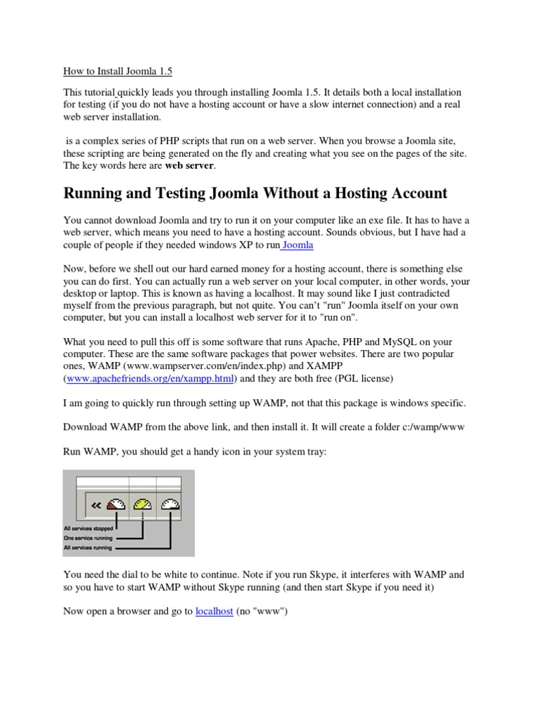 Running and testing joomla without a hosting account offline running and testing joomla without a hosting account offline joomla technology baditri Gallery
