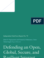 CFR Cyber Task Force Report - Defending an Open, Global, Secure, and Resilient Internet