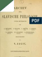 Archiv für slavische Philologie 21