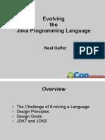 Evolving the Java Language