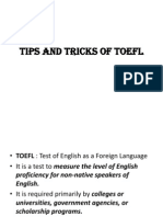 Tips and Tricks of TOEFL