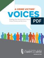 California Crime Victims' Voices Report