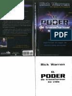 Warren, Rick - El Poder de Transformar Su Vida