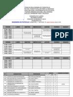 Horarios Ing. de Pet (Ta) I-2013