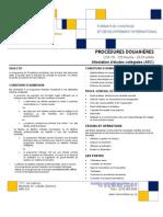 Procedures Douanieres Version 2011