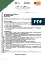 Carta Compromiso 2012