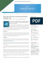 Nova forma de inscrição do Microempreendedor individual - MEI _