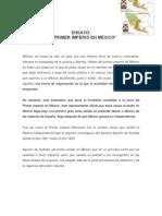 ENSAYO EL PRIMER IMPERIO EN MÉXICO