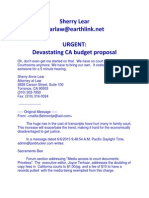 URGENT - Devastating CA Budget Proposal
