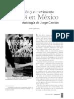 La educación y el movimiento del 68 en México Antología de Jorge Carrión.
