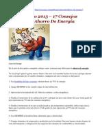 Junio 2013 – 17 Consejos De Ahorro De Energía