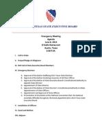 Texas LULAC Executive Board Agenda
