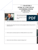 Ethical Issues for a Sales Person