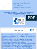 Member Benefits & Core Programming ACS Division of Small Chemical Businesses