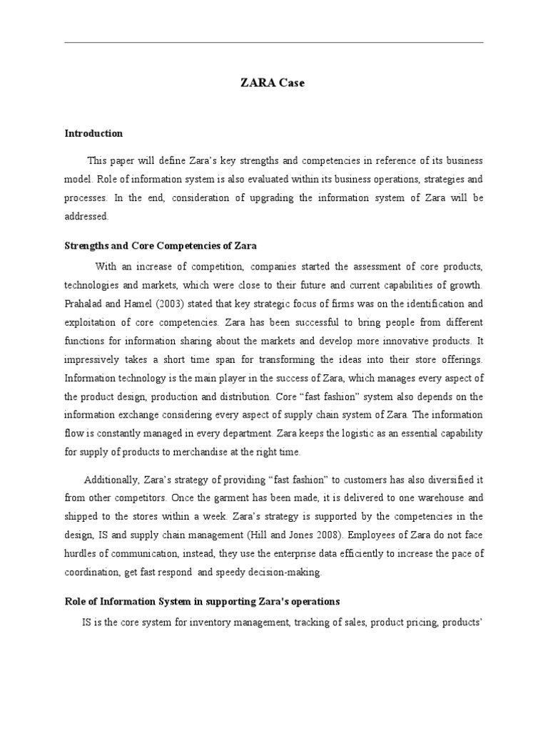 zara information