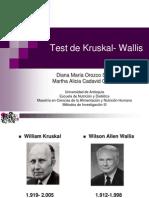 Test de Kruskal- Wallis 1