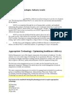 Medical Technologies -I