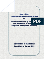 Denotification of land by Government and Allotment of sites by BDA, CAG, 2012