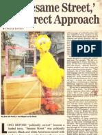 For 'Sesame Street,' the Direct Approach ('Sesame Street' set visit)