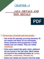4 Metals and Non Metals