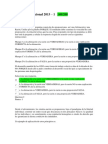 Evaluación Nacional Cultura Politica 2013 - 140 puntos