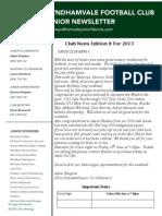 2013 Newsletters Week8