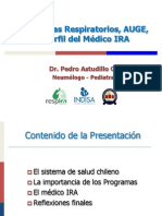 1.- PAO 2012 - Programas Respiratorios, Auge y Perfil Medico