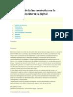 Valoración de la hermenéutica en la comunicación literaria digital