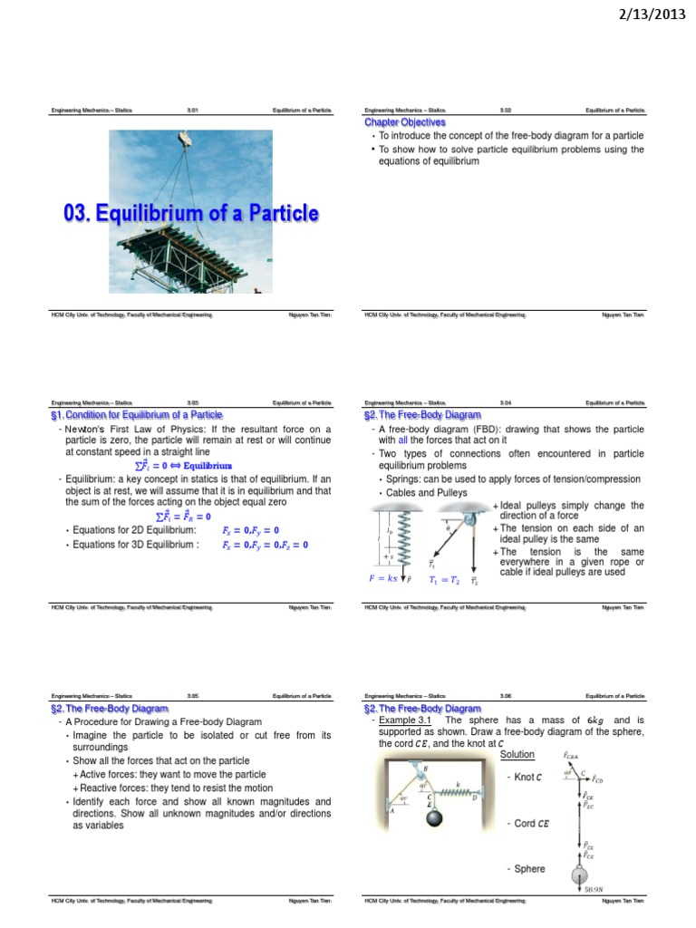 Ch03 equilibrium of a particle force tension physics pooptronica