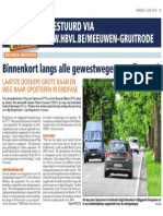 Artikel HBVL 07/06/2013 - Binnenkort langs alle gewestwegen een fietspad