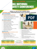 1st Annual Biosafety Conference Poster