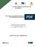 ITSMANTE Guia Informe Final Residencias-Profesionales 2012