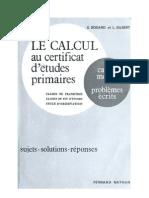 Mathématiques Classiques Le Calcul au Certificat d'Etudes Exercices et Corrigés
