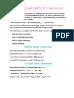 Mole Concept and Mole Conversions