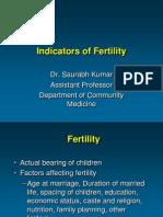 Indicators of Fertility
