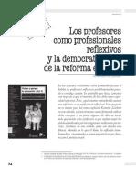 Zeichner - Los Profesores Como Profesionales Reflexivos y la democratización de la reforma escolar