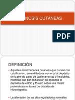 CALCINOSIS CUTÁNEAS