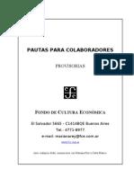 Pautas de publicación en el FCE