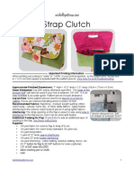 Strap Clutch Sewing Pattern